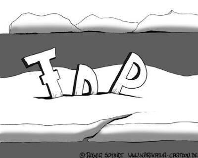 Karikatur, Cartoon: FDP verliert Wählergunst, © Roger Schmidt