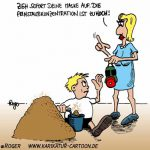 Karikatur, Cartoon: Feinstaub, © Roger Schmidt