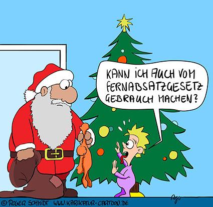 Karikatur, Cartoon: Fernabsatzgesetz, © Roger Schmidt