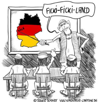 Karikatur, Cartoon: Ficki-Ficki-Köln, © Roger Schmidt