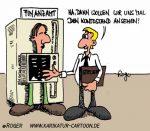 Karikatur, Cartoon: Finanzamt, © Roger Schmidt