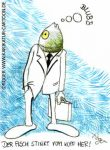 Karikatur, Cartoon: Fisch, © Roger Schmidt