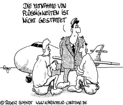 Karikatur, Cartoon: Flüssigsprengstoff, © Roger Schmidt