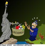 Karikatur, Cartoon: Transatlantisches EU-USA-Freihandelsabkommen, © Roger Schmidt