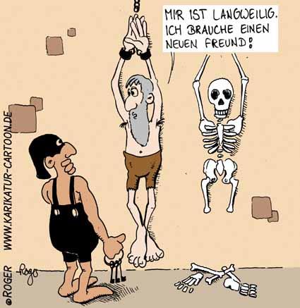 Karikatur, Cartoon: Freunde, © Roger Schmidt