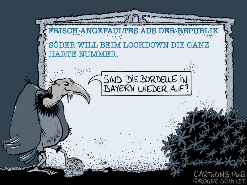 Frisch Angefaultes: Söder will die harte Nummer © Roger Schmidt