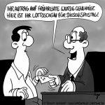 Karikatur, Cartoon: Frührente, © Roger Schmidt