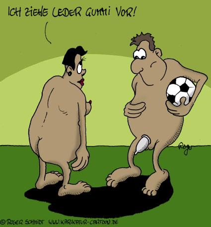 Karikatur, Cartoon: Gummi oder Leder, © Roger Schmidt