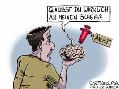 Karikatur, Cartoon: Gedanken sind nur eine Illusion © Roger Schmidt