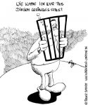 Karikatur, Cartoon: Das innere Gefängnis, © Roger Schmidt