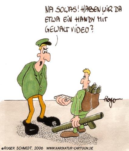 Karikatur, Cartoon: Gewalt an der Schule, © Roger Schmidt
