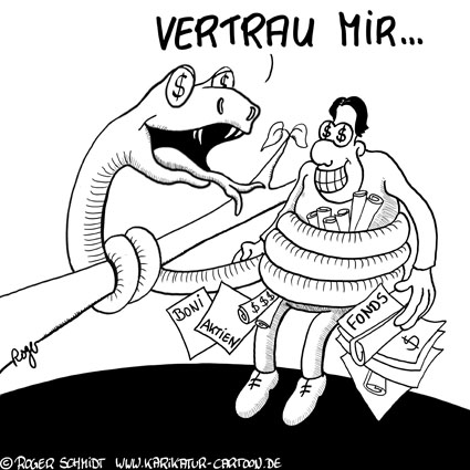 Karikatur, Cartoon: Gier, Verlangen und der Trieb, © Roger Schmidt