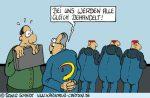 Karikatur, Cartoon: Gleichbehandlung verhindert Neid, © Roger Schmidt