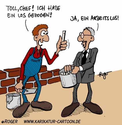 Karikatur, Cartoon: Glücksspiel, © Roger Schmidt