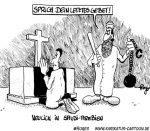 Karikatur, Cartoon: Gottesdienst, © Roger Schmidt