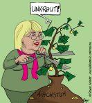 Karikatur, Cartoon: Grünes Wachstum, © Roger Schmidt