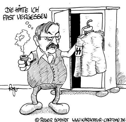 Karikatur, Cartoon: Günter Grass, © Roger Schmidt