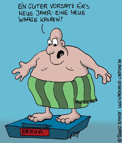 Karikatur, Cartoon: Gute Vorsätze, © Roger Schmidt