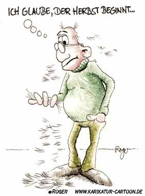 Karikatur, Cartoon: Haarausfall, © Roger Schmidt