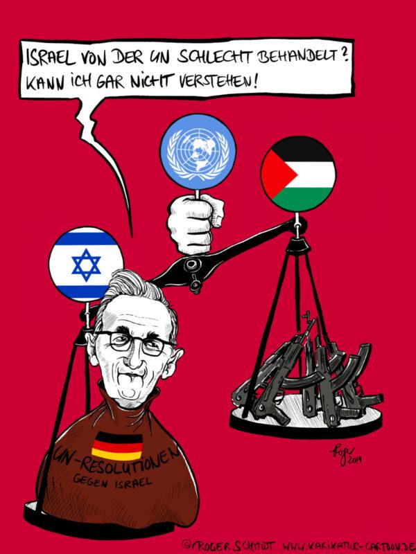 Karikatur, Cartoon: Häuptling gestaltene Zunge, © Roger Schmidt