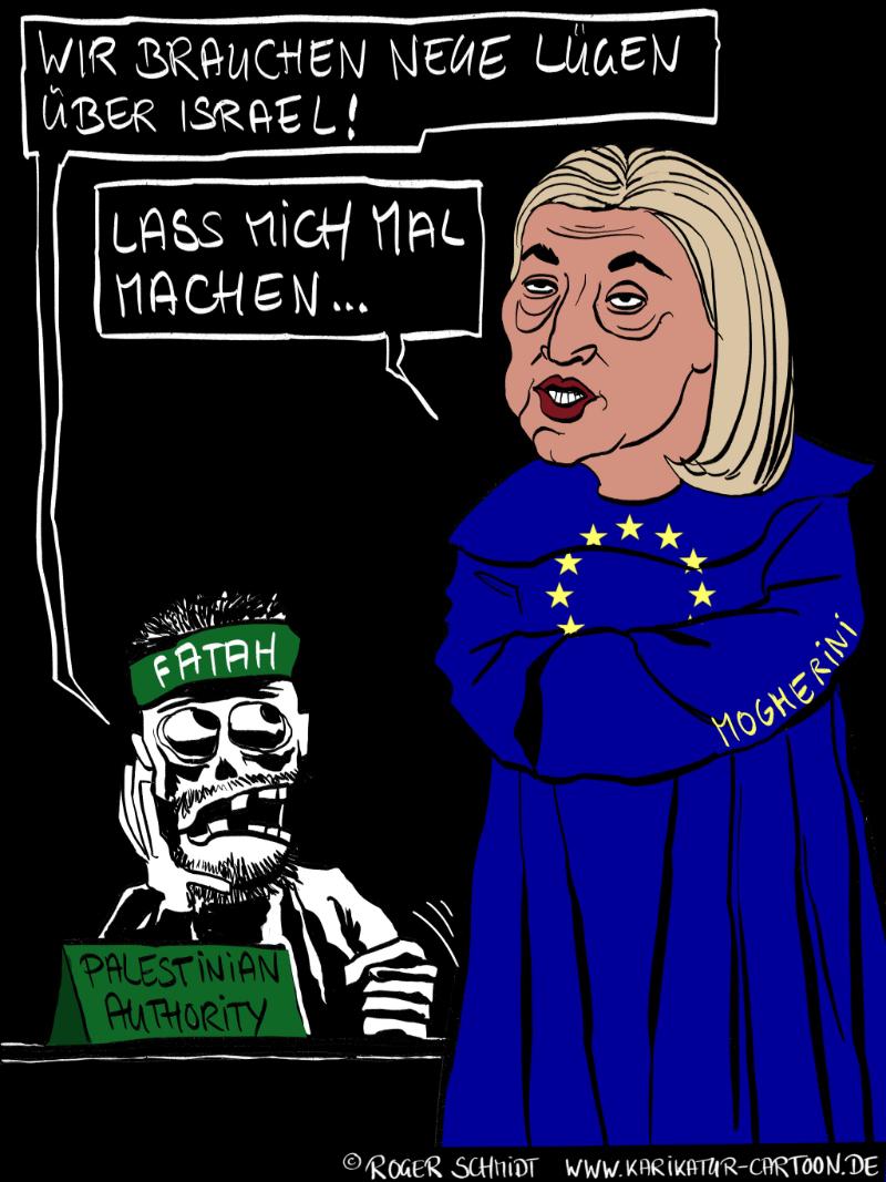 Karikatur, Cartoon: EU-Außenbeauftrage Frederica Mogherini, © Roger Schmidt