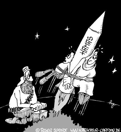 Karikatur, Cartoon: Hamas Terror, © Roger Schmidt