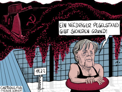 Karikatur, Cartoon: CDU-Wahldebakel 2020 in Hamburg © Roger Schmidt