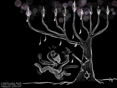 Karikatur, Cartoon: Happy Chanukka © Roger Schmidt