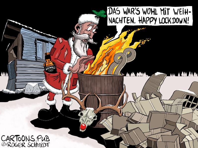 Karikatur, Cartoon: Happy Lockdown 2020 © Roger Schmidt