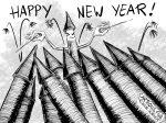 Karikatur, Cartoon: Happy New Year 2020 © Roger Schmidt