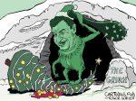 Karikatur, Cartoon: Söders harter Lockdown © Roger Schmidt
