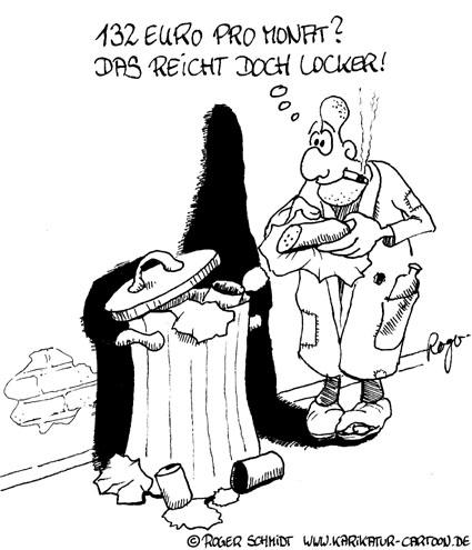 Karikatur, Cartoon: Hartz4 und die Schmarotzer, © Roger Schmidt
