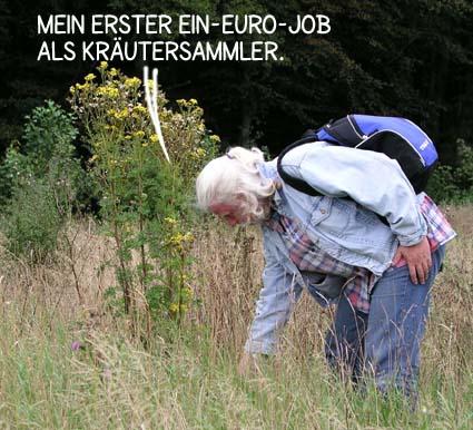 Karikatur, Cartoon: Hartz4 und der Ein-Euro-Job, © Roger Schmidt
