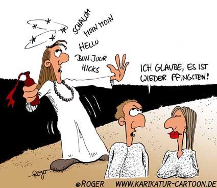 Karikatur, Cartoon: Heiliger Geist, © Roger Schmidt