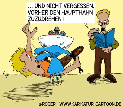 Karikatur, Cartoon: Bedienungsanleitung, © Roger Schmidt