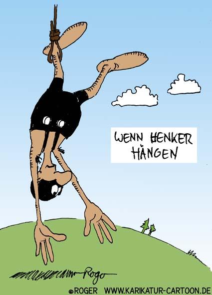 Karikatur, Cartoon: Henker, © Roger Schmidt