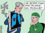 Karikatur, Cartoon: Höckes AfD-Flügel wird von Verfassungsschutz beobachtet © Roger Schmidt
