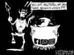 Karikatur, Cartoon: Höllenfeuer Facebook © Roger Schmidt