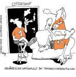 Karikatur, Cartoon: Holländische Nationalmannschaft beim Training, © Roger Schmidt