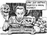 Karikatur, Cartoon: Der Holocaustvergleich des Roger Hallam © Roger Schmidt