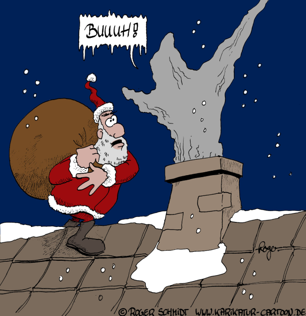 Karikatur, Cartoon: Horror, © Roger Schmidt