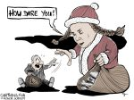 Karikatur, Cartoon: How dare you - Greta Thunberg © Roger Schmidt