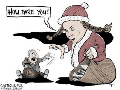 Karikatur, Cartoon: How dare you - Greta Thunberg © Roger Schmidt