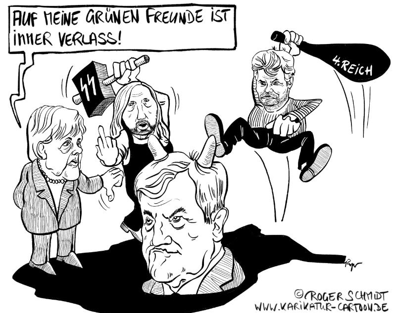 Karikatur, Cartoon: Hypermoralität, © Roger Schmidt