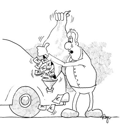 Karikatur, Cartoon: Inflation Ölpreis, © Roger Schmidt