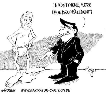Karikatur, Cartoon: Inkontinenz, © Roger Schmidt