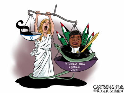 Karikatur, Cartoon: International Crime Court against Israel © Roger Schmidt