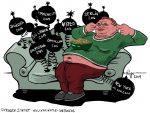 Karikatur, Cartoon: Islamistischer Terror in Sri Lanka, © Roger Schmidt