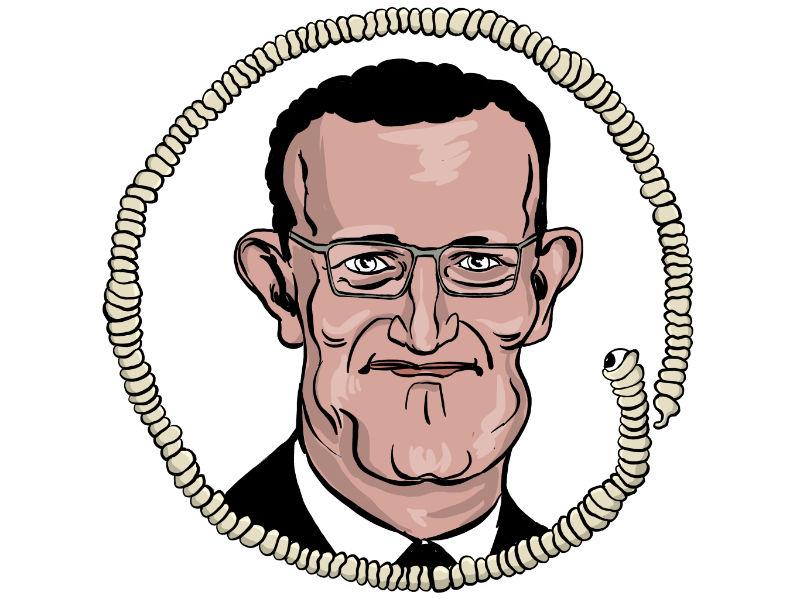 Karikatur, Cartoon: Jens Spahn © Roger Schmidt