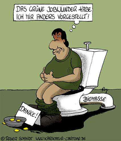 Karikatur, Cartoon: Jobs für erneuerbare Energien, © Roger Schmidt